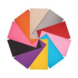 similicuir nbeads®, accessoires du vêtement, couleur mélangée, 34x20 cm, 2 pcs / couleur, 20 PCs / ensemble(DIY-NB0001-15)