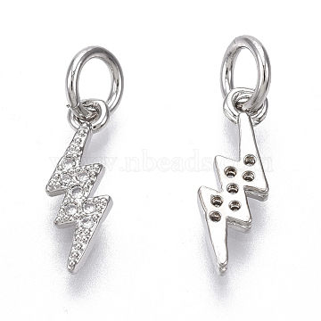 Real Platinum Plated Clear Others Brass+Cubic Zirconia Charms