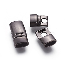 Fermoirs magnétiques en alliage, rectangle, gunmetal, 25x12.5x7.5mm, Trou: 5x10.5mm(PALLOY-XCP0014-01B)