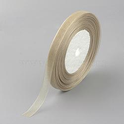 """Ruban d'organza, 1/2"""" (12 mm), 50yards / roll (45.72m / roll), tan(VC012-60)"""