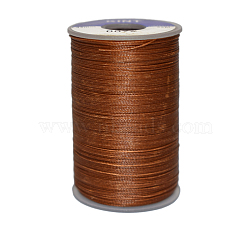 Waxed Polyester Cord, Saddle Brown, 0.45mm, about 59.05 yards(54m)/roll(YC-E006-0.45mm-A07)
