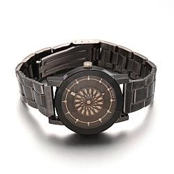 Высокое качество из бронзы из нержавеющей стали из нержавеющей стали наручные часы из кварца, Сплав с головой часы, черный, 65 мм; смотреть голову: 38x34x9.5 мм; смотреть лицо: 31 мм(X-WACH-E020-08A-01)