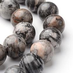 """Chapelets de perles de carte pierre/en picasso pierre/en picasso jasper ronde naturel, 10mm, trou: 1mm; environ 38~39 pcs/chapelet, 15""""(G-J346-03-10mm)"""