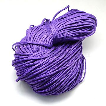 Polyester & Spandex Cord Ropes, Climbing Rope Multipurpose, for Bracelets Making Climbing, Mauve, 4~5mm, about 109.36 yards(100m)/bundle, 420~500g/bundle(RCP-R006-187)
