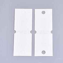 Cartes d'affichage en carton, utilisé pour le collier, rectangle, ivoire, 14x5 cm(CDIS-T003-30)
