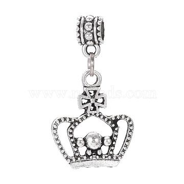 36mm Crown Alloy Dangle Beads