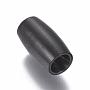 Noir Ovale Acier Inoxydable Fermoirs(STAS-I120-57A-B)