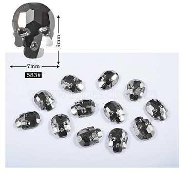 Silver Skull Glass