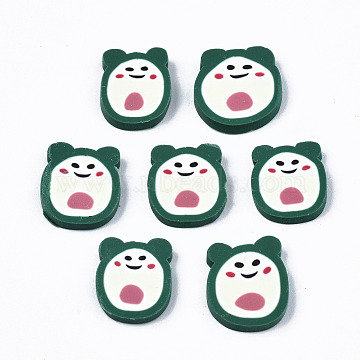 Handmade Polymer Clay Cabochons, for Nail Art Decoration, Cartoon, Colorful, 11~12x9.5~11.5x2mm; about 1750pcs/500g(CLAY-T016-19A)