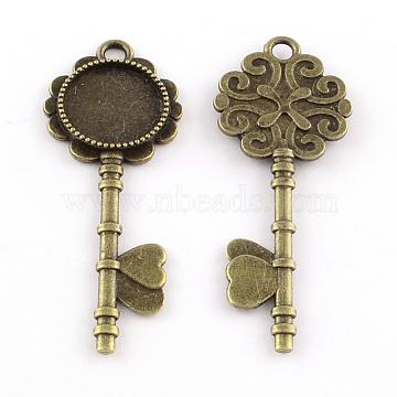 Antique Bronze Key Alloy Big Pendants