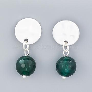 Green Alloy Stud Earrings