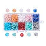 6mm Mixed Color Round Acrylic Beads(OACR-JP0001-01-6mm)