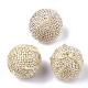 Handmade Hemp Woven Beads(X-WOVE-Q077-09B)-1