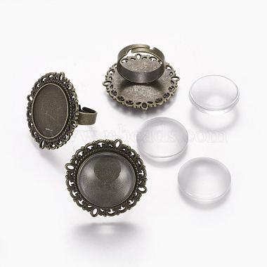 Flat Round Iron+Glass Ring Making