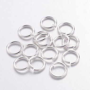 Silver Ring Brass Close but Unsoldered Jump Rings