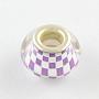 Medium Purple Rondelle Acrylic European Beads(OPDL-Q129-179A)
