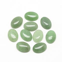 cabochons naturelles aventurine verte, ovale, 10x8x4~5 mm(X-G-R415-8x10-43)