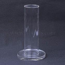 стойка дисплея браслета ювелирных изделий башни органического стекла вертикальная, держатель браслета, колонка, очистить, 51x18 mm(BDIS-G005-02)