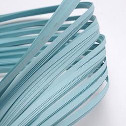 Bandes de papier quilling, bleu ciel, 390x3mm; à propos 120strips / sac(X-DIY-J001-3mm-B10)