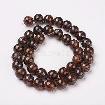 10mm Round Bronzite Beads