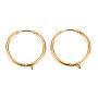 Real 14K Gold Plated 316 Surgical Stainless Steel Huggie Hoop Earring Findings(X-STAS-S116-257A-G)
