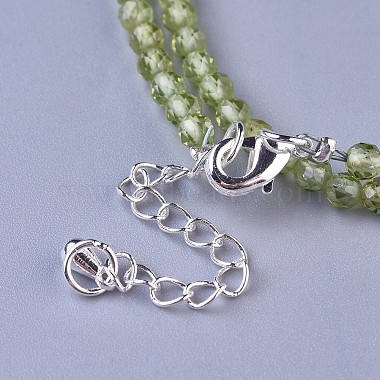 Natural Peridot Beaded Necklaces(NJEW-K114-A-A17)-3