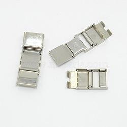 Fermoirs de bande de montre en 304 acier inoxydable, couleur inoxydable, 32x11mm(X-EH055)