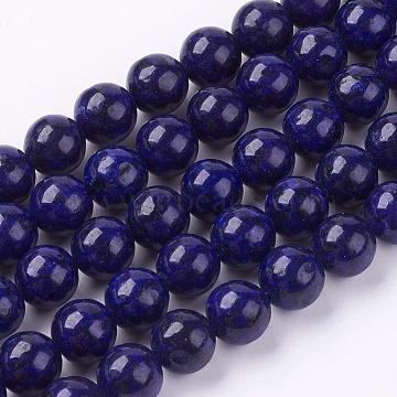 8mm MidnightBlue Round Lapis Lazuli Beads
