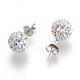 Sterling Silver Austrian Crystal Rhinestone Ball Stud Earrings for Girl(Q286H021)-3