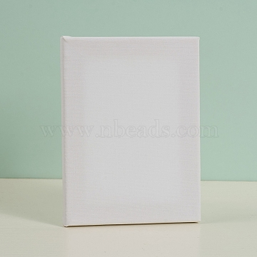 Painting Cotton Panels, with Board Core, for Acrylic, Oil Drawing, Rectangle, White, 20x15x1.6cm(DIY-G019-12C)