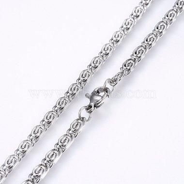 304 Stainless Steel Lumachina Chain Necklaces(NJEW-P226-08P-01)-2