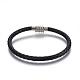 Leather Braided Cord Bracelets(BJEW-E352-24P)-1