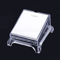 Organic Glass Pendant Necklace Display Stands, White, 9x8x5cm(X-PDIS-N011-04)