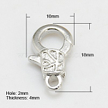 Silver Alloy Clasps(PALLOY-G064-S)