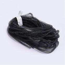 Plastic Net Thread Cord, Black, 8mm, 30Yards(PNT-Q003-8mm-16)