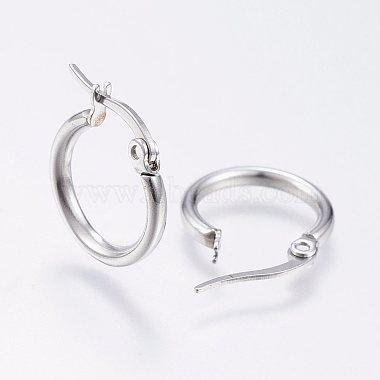 (Same Sku: EJEW-A052-19H-P) 304 Stainless Steel Hoop Earrings(X-EJEW-F105-12P)-2