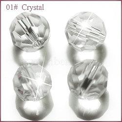 imitation perles de cristal autrichien, AAA grade, facettes, arrondir, effacer, 8 mm, trou: 0.9~1 mm(SWAR-F021-8mm-001)