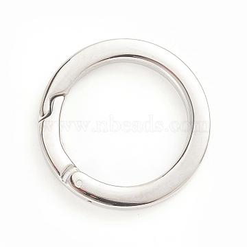 304 Stainless Steel Spring Gate Rings, O Rings, Stainless Steel Color, 30x3.5mm; Inner Diameter: 22mm(STAS-I133-14A)