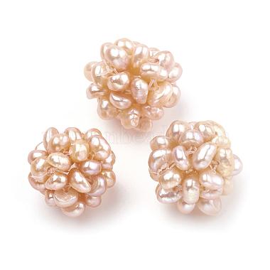 Handmade Natural Pearl Woven Beads(WOVE-S116-01B)-2