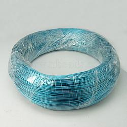 Fil d'aluminium, darkturquoise, Jauge 18, 1.0 mm, sur 460 m / kg(AW-B005-2)