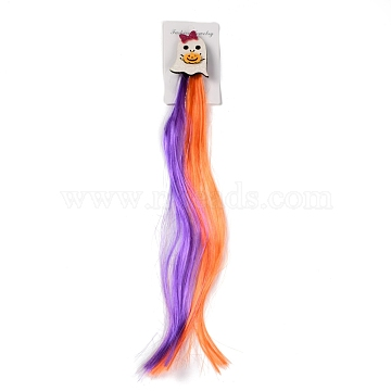 Halloween Headgear, Ghost Decorative Wig Hairpin, Party Hair Decorations, Colorful, 445mm(PHAR-H065-03)
