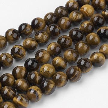 8mm Round Tiger Eye Beads