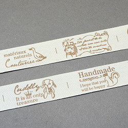 Cartoon Printed Cotton Ribbon, Camel, 3/4inch(20mm); about 20yards/roll(18.28m/roll)(OCOR-S025-01)