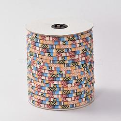 Cordes ethniques en tissu, blanchedalmond, 6 mm; environ 50 mètres / rouleau(OCOR-F003-6mm-15)