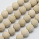 Natural Fossil Beads Strands(G-D694-8mm)-2