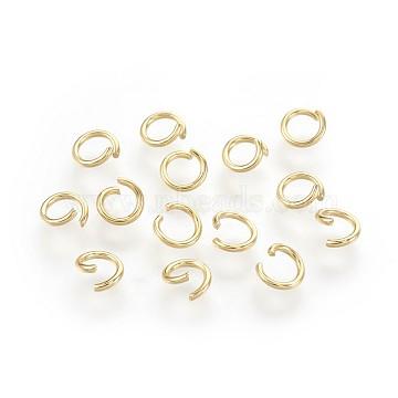 304 Stainless Steel Open Jump Rings, Golden, 20 Gauge, 4x0.8mm(X-STAS-P221-21C-G)
