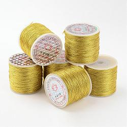 Metallic Cord, Golden, 0.8mm/strand, about 109.36 yards(100m)/roll(AS005)