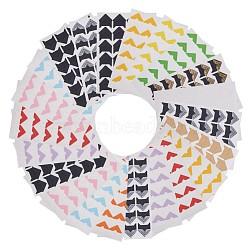 Diy scrapbooking albums photo autocollant de coin, couleur mixte, 22x20mm; 24 pcs / feuille; 26sheets / set(AJEW-PH0016-06)