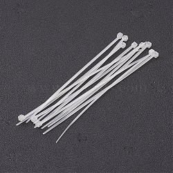 attaches de câbles en nylon, attaches autobloquantes, liens zip, blanc, sur 120 mm de long, 3 mm d'épaisseur, 1000 brins / sachet(TOOL-D013-1)