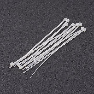 Nylon Cable Ties, Tie Wraps, Zip Ties, White, about 120mm long, 3mm thick, 1000strands/bag(TOOL-D013-1)